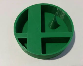 Super Smash Brothers Logo ASH TRAY with DEBOWLER 20XX Smash 4 Project Melee