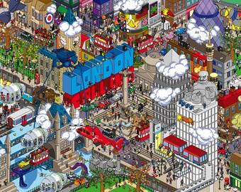 London Calling : Pixel art print