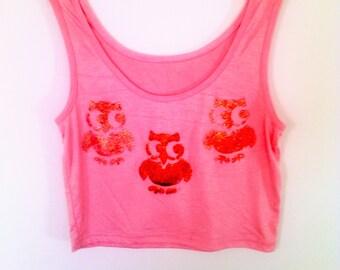 Fashion Tank Top Beetles  for Summer. S/M  Orange Tshirts
