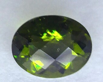 Pair 1.40 CT Oval Green Moldavite Gemstone 9x7mm (M3V016)