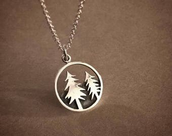 Forest Necklace - Sterling Silver