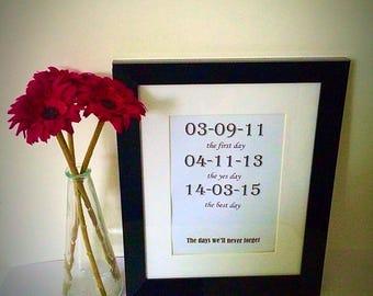 Special dates frame