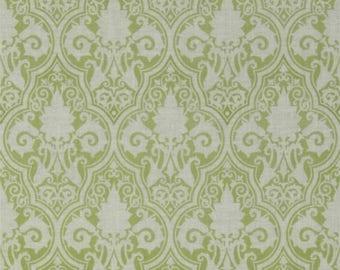SALE Sunshine Roses - Damask -Green - Cotton Fabric - Dena Designs - Free Spirit Fabrics