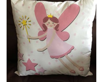 Pink Fairy Throw Pillow