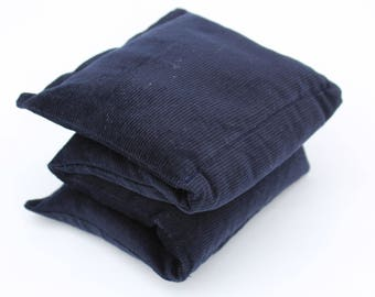 Wheat Heat Pack/Bag-4 Sectioned Navy
