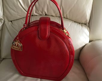 Red patent leather quilted Handbag