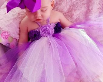 Baby girl/Girls tutu dress & Matching big bow lace head band