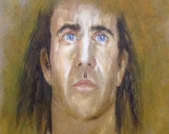 Portrait of Mel Gibson as William Wallace in BRAVEHEART movie