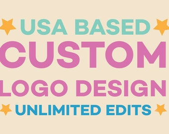 Custom Logo Design - Free Unlimited revisions - Vector Source Files - 24HR Turnaround