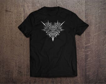 "Silkscreen T-shirt with unique graphic design ""Heart"""