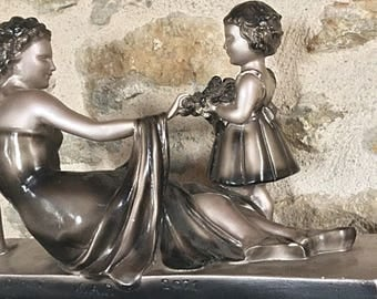 Superb statuette plaster - ART DECO signed, numbered according to Ugo CIPRIANI - 52 cm