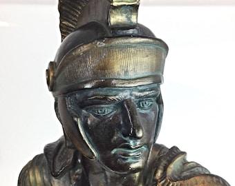 "Superb big statuette ""warrior Roman soldier kneeling"" RARE 11 kg - 60 cm"
