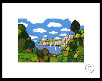 Beer Head from Seaton, Mounted Giclee Print