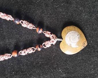 Byzantine ammonite necklace