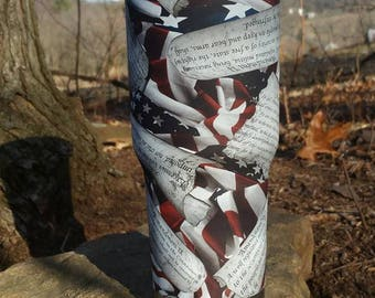 30 oz Steel Double Wall Tumbler- Hydrodipped