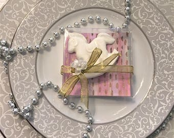 chocolate baby shower favor horse in a box