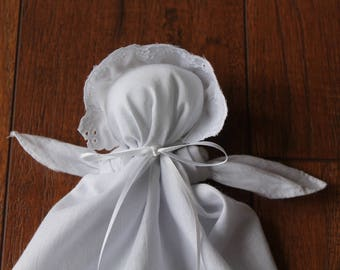 Quiet Time - Soothing Toy - Baby Doll - Church Doll - Hanky Handkerchief Doll - Handmade Soft Doll - Toy