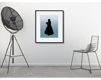 Customised silhouette digital download.