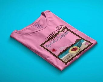 t-shirt girl - teen - pink - mini shopper - button - pin - sensory journeys - nutmeg - dream - handmade - gift idea - kokoronaif tees
