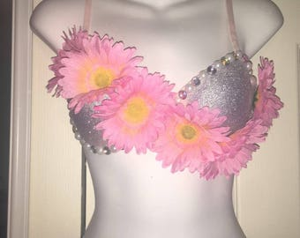 Flower Rave Bra
