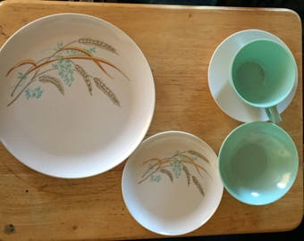 Vintage Melmac dishes, complete service for 4