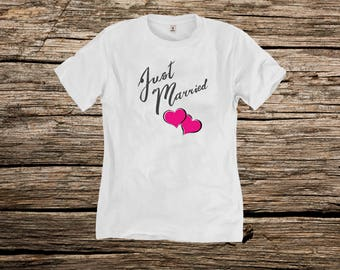 Married tshirt, Just Married shirt, Sweet shirt, Love shirt, Wedding tshirt, Honeymoon shirt, Wifey sweatshirt