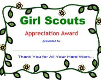 Girl scouts investiturerededication certificate welcome to appreciation certificate girl scouts yelopaper Gallery