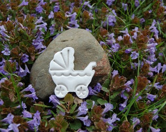 Baby Carriage Clay Figurine Diffuser for Baby Nursery Decoration