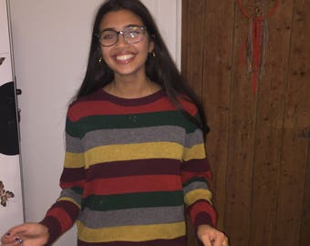 90s Stripe Knit Jumper/Sweater