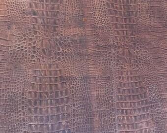Brown Crocodile Cork - Cork Fabric - EcoFriendly - Made in Portugal