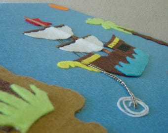 Pirate Ship Felt Art