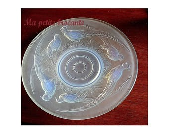 Stunning art deco opalescent Cup signed Verlux pheasants