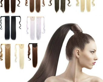 Ponitail synthetic hair - Hight quality- 120 gr, 21 inch(53cm)