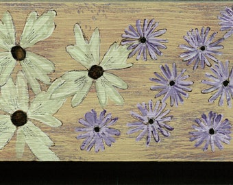 Anemone and Daisies  on a 1X4