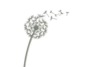 Dandelion Flower Embroidery Design Embroidery Design Fill Design Machine Embroidery Instant Download Digital File EN2017_F2