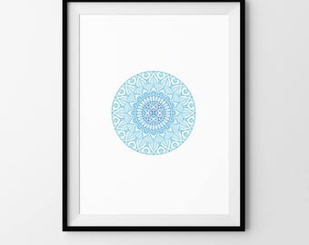 Mandala, Minimalist, Geometric, Pattern, Digital Download, Art, Print, Poster, Modern, Contemporary, Circle, Circular