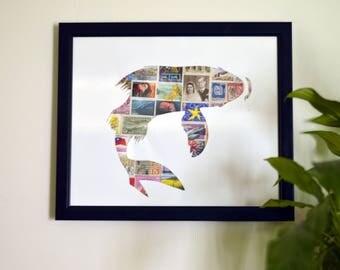 Koi Stamp Collage Cutout
