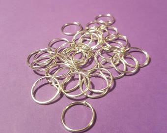 10 mm White Gold Plated Jump Rings
