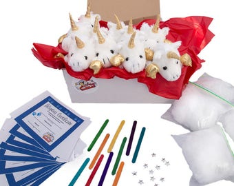 White and Gold Unicorn do it yourself 10 pack