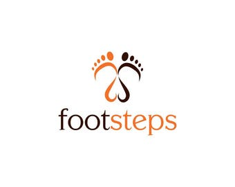 Footsteps logo Design   Premade Logo Design   Photography Logo   Blog Logo   Boutique Logo   Business Logo   Podiatry logo