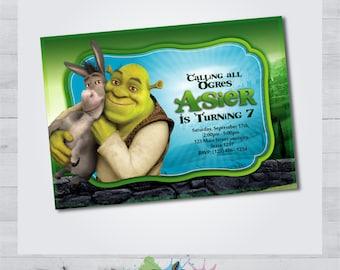 Printable Shrek Invitation