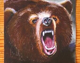 Brown Bear Illustration Print