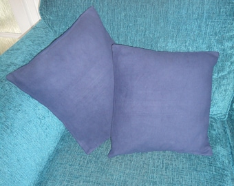 Blue Moleskin Cushion Cover