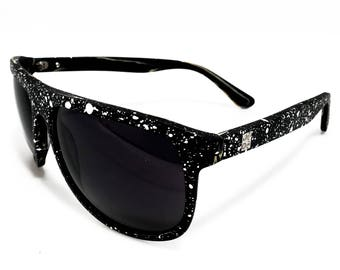 U.S.O.M. | A\Wood Stardust - Occhiale da Sole, Puntinature a Contrasto / Sunglasses, Contrast Dots | Handmade in Italy