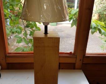 Beech Oak Block Lamp