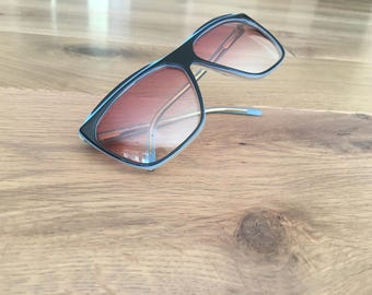 Pink and Blue Revue Retro Sunglasses