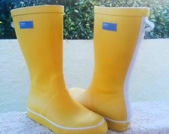 Yellow Adidas rain boots / Adidas Yellow Rubber boots