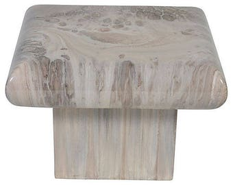 Marbled end table