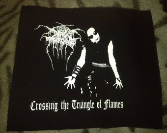 Darkthrone Crossing The Triangle Of Flames Black Metal Black Canvas Patch