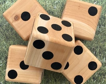 Yard Dice, Yardzee, Outdoor game, large wood dice, tailgating, Giant dice, lawn Games, outdoor wedding, Camping games, today show